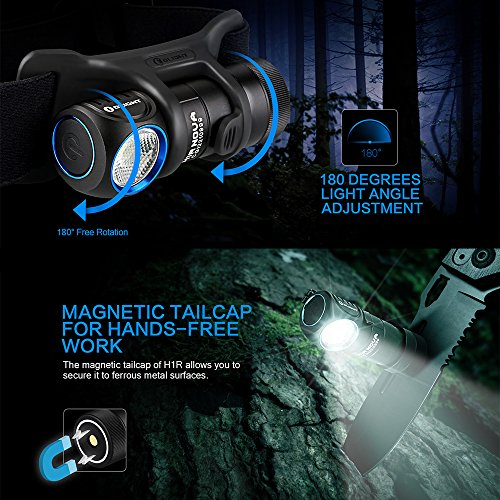 Olight H1R Nova LED Taschenlampe Stirnlampe