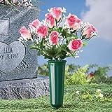 Bid Buy Direct® Blumenvase für Gedenkstätten, Friedhof, Grab, Begräbnis