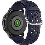 KOMI Correas de reloj de silicona de 20 mm y 22 mm, liberación rápida para mujeres y hombres, correas de repuesto para reloj