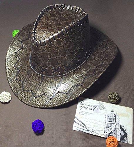 Panama Herren Stroh Krokodil Silber erhaben ()