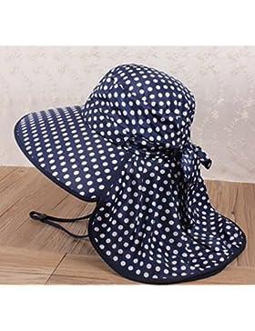 Nuevo punto de onda anti-UV plegable sombrero para el sol de verano en las playas ala ancha visera exterior Cap...