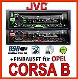 Opel Corsa B - JVC KD-R469E - CD/MP3/USB Autoradio - Einbauset