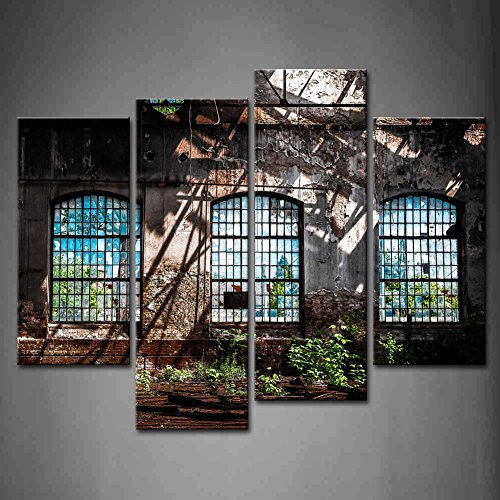4-panel-wand-kunst-abandoned-industrie-interieur-mit-bright-light-ruin-fenster-pflanze-die-bild-kuns