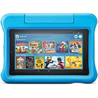 Fire 7 Kids Edition tablet, 7-inch display, 16 GB, blue child-friendly cover