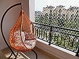 Yahee Reißfeste Katzennetz Sicherheitsnetz Balkonnetz Schutznetz für Balkon, Terrasse, Fenster 3 x 6 m Weiß - 5