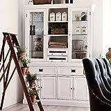 Pharao24 Küchenbuffet in Weiß skandinavischer Landhausstil