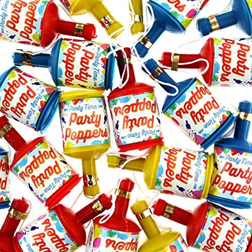 Henbrandt LTD Party Knaller Popper Knallflasche 48 Stück Luftschlangen Konfetti Sylvester Karneval Party