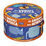 Gli animali dell'Africa. Ediz. a colori. Con puzzle