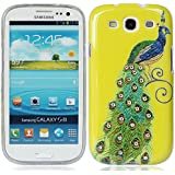 für Samsung Galaxy S3 SIII S III I9300 bling strass kristall diamant Pfau Peacock Peafowl hülle schale abdeckung case cover_PGQU-YP0694I0082