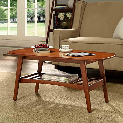 FEI Table Basse Table d'Appoint Rectangulaire Salon Noyer L100CM Milky L * W55CM * H45CM (Couleur : Noyer)
