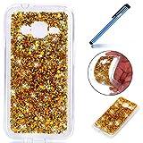 Galaxy J1 Mini Prime Hülle, Hülle für Samsung Galaxy J1 Mini Prime, Ysimee Glitzer Silikon Schutz Cover TPU Silikon Hülle Glänzend Sparkle HandyHülle Ultradünnen Weiche Bumper Handyhülle Gold