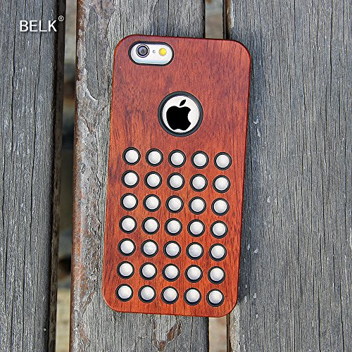 "iPhone Case 6S, BELK ""Milan Beehive"" Série bois empiècements Armour iPhone 6 Back Cover / iPhone 6S Protective Cover - Fasciné Peintes Mahogany cellular"