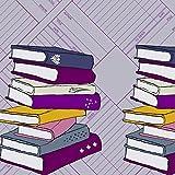 Buch Stoff–Single Bordüre–lila