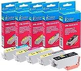 iColor Tintenpatronen: ColorPack für Epson (ersetzt T3357 / 33XL), BK/PBK/C/M/Y (Multipacks Kompatible Druckerpatronen für Tintenstrahldrucker, Epson)