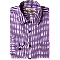 Excalibur Men's Formal Shirt (8907542558308_400016479331_42_Purple)