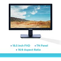 Lenovo 18.5-inch HD Monitor (5ms Response time - 200 Nits Brightness - HDMI - VGA - HDMI Cable Included - Power Cord Included - 72% Color Gamut - TUV Blue Light Certification)