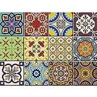 Baldosas 24Pc Set auténtico tradicional Talavera Azulejos stickersl baño y cocina azulejos adhesivos fácil de aplicar sólo Peel & Stick decoración del hogar 6x 6pulgadas