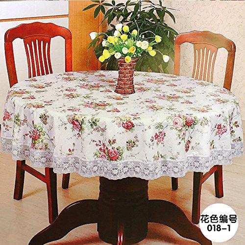 MH-RITA die Tischdecke Gewebe Wasserdichte dicke Kunststoff runden Tisch drapieren Anfrage [ED] Der Durchmesser 150 (Tischdecke Kunststoff Schneeflocke Klar)