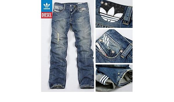 Entrelazamiento Opuesto Prevalecer  Men's Diesel Adidas jeans W34 L33: Amazon.co.uk: Car & Motorbike