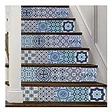 SERFGTFH Home Decor DIY Schritte Aufkleber Abnehmbare Treppe Aufkleber Home Decor Keramikfliesen Muster Wall Sticker Home Deco Spiegel