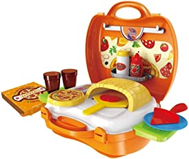 Toyshine Pizza Maker Kitchen Set Toy with Suitcase, 22 Playing Accessories