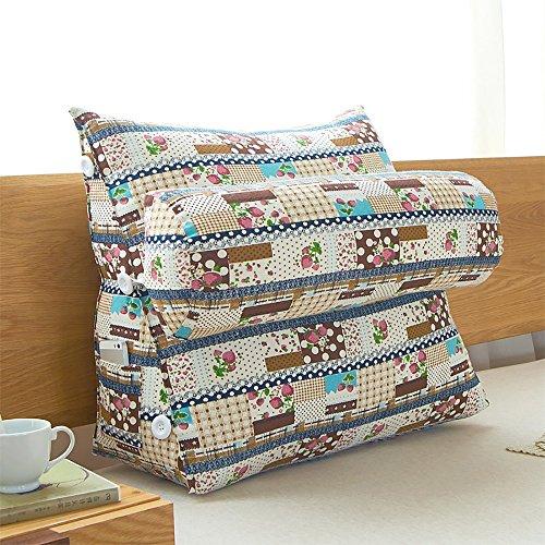Coussin Coussin en lin en lin en coton Coussin en soie (Couleur : # 2, taille : 50 * 60cm)