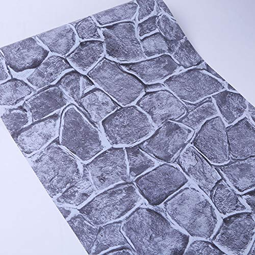 Backstein selbstklebende Tapete selbstklebende Tapete Retro Backstein Muster selbstklebende Tapete altes Haus renoviert selbstklebende Tapete 5111 grau Rock 0,53 * 9,5 m