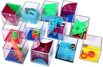 Schramm 12 Stück Geduldsspiele Mini Denkspiel Knobelspiel für Kinder Geduld Spiel Mitgebsel Kindergeburtstag Geduldsspiel Kinder Geschicklichkeitsspiel