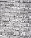 Badvorleger, Aquamat Antirutsch Matte, Bodenbelag, Bad Garten Küche, 140x65 cm, Länge wählbar, Naturstein Pflaster
