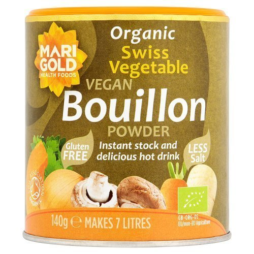 Marigold Organic Bouillon Reduced Salt 140 g (Pack of 6)