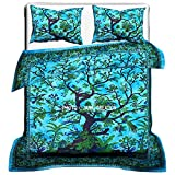 Tree Of Life Indian Cotton Duvet Cover, Duvet Cover , Comforter Set , Bohemian Bedding Set , Queen Size Traditional Doona Cover , King Size Indian Cotton Throw Doona Cover Blanket Set , Duvet Cover,