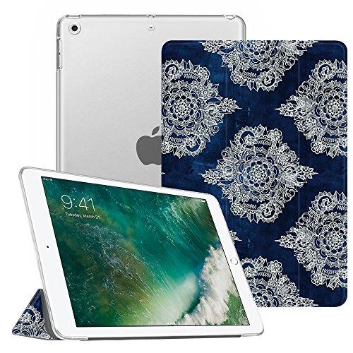 Fintie iPad 9.7 Zoll 2018 / 2017 Hülle - Ultradünn Superleicht Schutzhülle mit transparenter Rückseite Abdeckung Cover Case mit Auto Schlaf / Wach Funktion für Apple iPad 9,7'' 2018 / 2017, marokkanische Muster (Apple-muster)