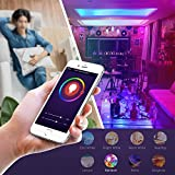 Alexa WiFi Smart Light Led Bulbs Bayonet by LUMIMAN, B22 RGBW Dimmable Tunable 7.5w, Compatible with Alexa and Google Assistant, 60W, Remote Control by Smartphone iOS & Android, No Hub Required