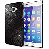 Samsung Galaxy A5 2016 Coque Protection de NICA, Ultra-Fine Glitter Housse Slim Hardcase Paillettes Phone Cover, Etui Rigide Strass Bumper Mince pour Telephone Portable Samsung A5 2016 - Noir