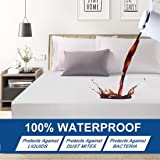 Premium Hypoallergenic Waterproof Mattress Protector - Deep Pocket - Hypoallergenic Vinyl Free (Single(120X200X30CM))