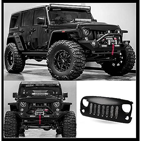 Black Matt con inserto griglia radiatore Jeep Wrangler Rubicon Sahara Sport JK 2007–2016