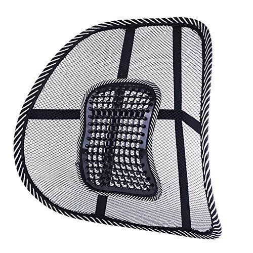 ZFW Lendenwirbelstütze, Sommer Atmungsaktives Auto-Rückenmassagekissen aus Netzgewebe Für den Einsatz zu Hause und im Büro Hochwertige Eisseide Erfrischend (Gesunde Back-office-stuhl)