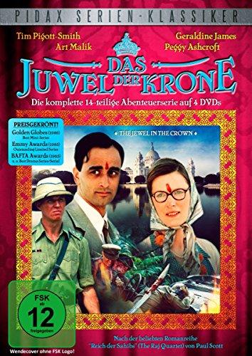 Das Juwel der Krone (The Jewel in the Crown) - Die komplette 14-teilige Abenteuerserie (Pidax Serien-Klassiker) [4 DVDs] (Juwelen Klassiker)