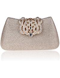 KAXIDY Pochettes Élégant Luxueux Sac a main de Soiree Pochette Soirée de Mariage Strass Boucle Pochette de Soirée pour Femme Fille