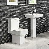 Moderne de salle de bains en céramique pour WC à réservoir &lavabo à colonne de salle de bain