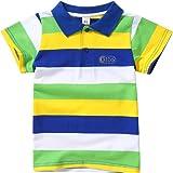 Miyanuby Bebe Niño Camisa Polo Classic Fit Polo A Rayas De Manga Corta Camiseta para Niños Camisetas De Verano Camisetas Tops