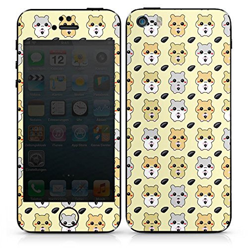 Apple iPhone SE Case Skin Sticker aus Vinyl-Folie Aufkleber Hamster Kawaii Süß DesignSkins® glänzend