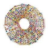 3D Puffy Sticker Set aus 800 Stickern [MEGA Pack] 16 Stickerbögen für Kinder, Lehrer, Erwachsene, zum basteln und verschönern, Stickeralbum von PhoneStar