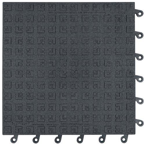 Solid Matte (Wearwell 562.78x18x18BK-CS10 ErgoDeck Solid Matte, Heavy Duty, 46 cm x 46 cm, schwarz (10 Stück))