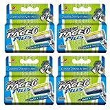 Pack of 16 : Dorco Pace 6+ Replacement Cartridges – World's First Six-Blade Shaving System for Men – Includes Trimmer, Vitamin E Lubrication Strip – Common Docking System Compatible With Any Pace Handle – 16 Count