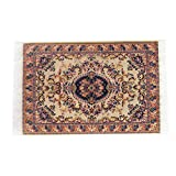 #5: Magideal Turkish Style Carpet Miniature Embroidery Cloth Mat for 1/12 Dollhouse Small
