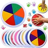 Kagodri Tampon encreur lavable pour enfant - Tampon encreur à faire soi-même - Tampon encreur en éponge pour peinture de graf