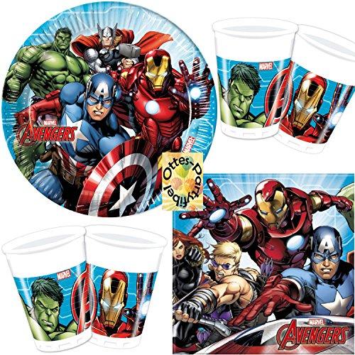 HHO Avengers Mighty 52tlg. für 16 Kinder Teller Becher Servietten