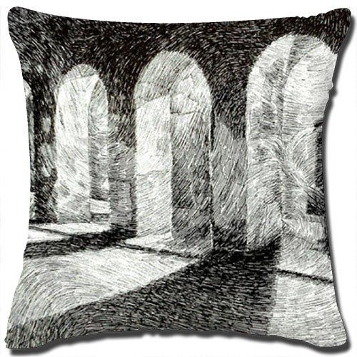 Coton Lin carré Couvre-lit décoratif Taie d'oreiller fabriqué à partir de 100% coton de haute qualité lin/Dimensions : 45,7 x 45,7 cm/NE Comprend pas d'oreiller Insert. (4457)