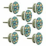 JP Hardware Ceramic Knobs for Cabinets & Cupboards Drawer Pulls (Multicolour) - Pack